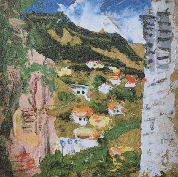 画像1: ヴェズレー風景   10cm×10cm (1)